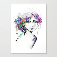 Exotic Girl Canvas Print