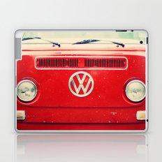 Red VW Bus Laptop & iPad Skin