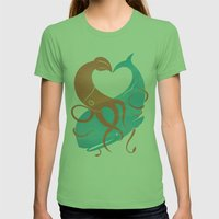 Hug It Out Womens Fitted Tee Grass SMALL
