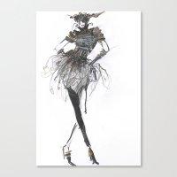Fashion sketches in pencil Canvas Print