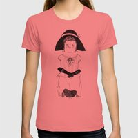 Srta. Asunción Womens Fitted Tee Pomegranate SMALL