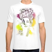 Butterfly Lady Mens Fitted Tee White SMALL