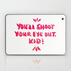 You'll Shoot Your Eye Out – Pink Ink Laptop & iPad Skin