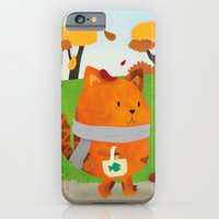 iPhone & iPod Case featuring A Lovely Walk To The Shops In Autumn by Claire Stamper