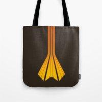 Retro Lines - Orange Flame Tote Bag