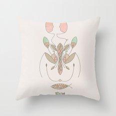 sacred molecule Throw Pillow