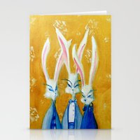Rabbit Family Stationery Cards