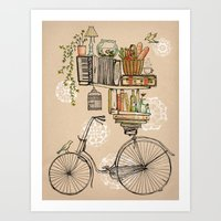 books Art Prints featuring Pleasant Balance by florever