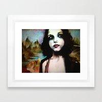 mona lisa in 2011 Framed Art Print