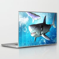 shark Laptop & iPad Skins featuring Shark by nicky2342
