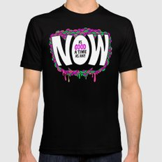 NOW Mens Fitted Tee Black SMALL