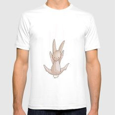 Falling Bunny 3 - Series, Nursery Print Mens Fitted Tee White SMALL