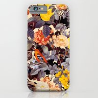 floral pattern iPhone & iPod Cases featuring Floral Pattern by Burcu Korkmazyurek