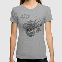 PEACOCKS CAN FLY Womens Fitted Tee Athletic Grey SMALL