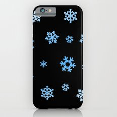 Snowflakes (Blue & White on Black) Slim Case iPhone 6s