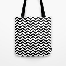 Keep Calm And Dream On (Zig Zag Chevron Black Lodge Floor, Twin Peaks) Tote Bag