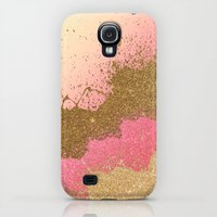 Galaxy S4 Cases featuring Golden pink shadows by Psychae