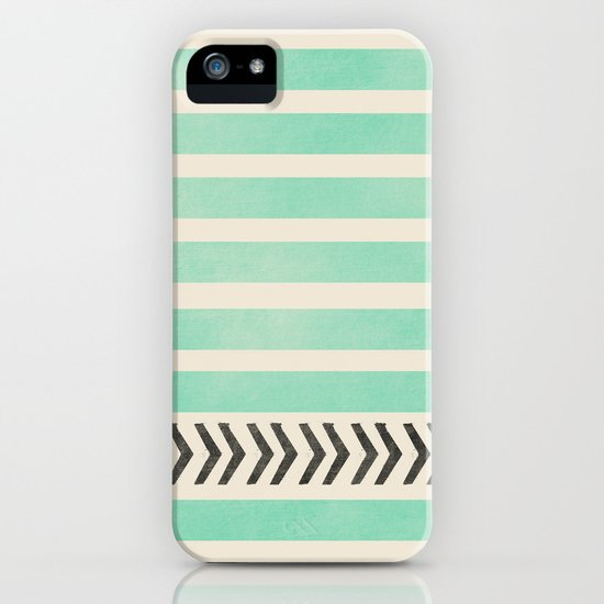 MINT STRIPES AND ARROWS iPhone & iPod Case
