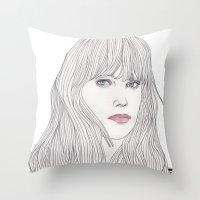Pastel Girl 1 Throw Pillow