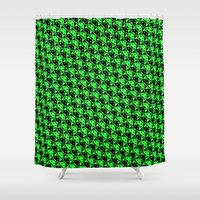 invaderstooth pattern Shower Curtain