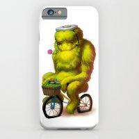 iPhone Cases featuring Bike Monster 1 by Joel Hustak
