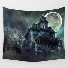 The Haunted House Wall Tapestry