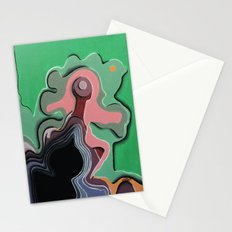 Humans in motion Stationery Cards