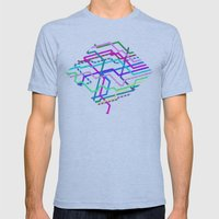 Hipster Railroad Diamond Mens Fitted Tee Athletic Blue SMALL