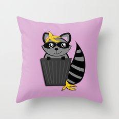 Trash Panda Raccoon Throw Pillow