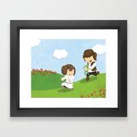 SW Kids - Han Chasing Le… Framed Art Print