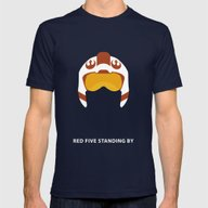 Star Wars Minimalism - R… Mens Fitted Tee Navy SMALL