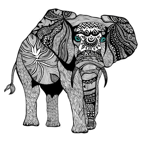 Elephant of Namibia (black & white) Art Print