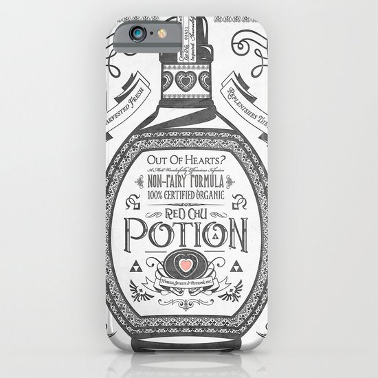 Legend of Zelda Red Potion Vintage Hyrule Line Work Letterpress iPhone & iPod Case