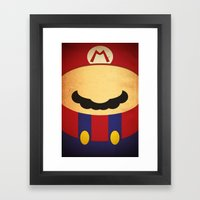 Minimal Player 1 Framed Art Print