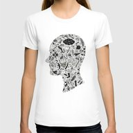 It's All In My Head Womens Fitted Tee White MEDIUM