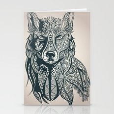 Vintage Sketch Wolf Stationery Cards