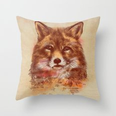 The Red fox Throw Pillow