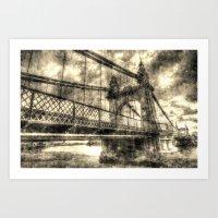 Hammersmith Bridge Londo… Art Print