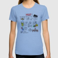 MAP Womens Fitted Tee Athletic Blue SMALL