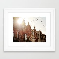 Belgian Homes Framed Art Print