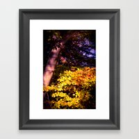 Yellow Fall Leaves Framed Art Print
