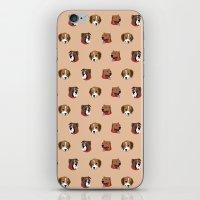 Cute and Elegant Dog Head Graphic Pattern iPhone & iPod Skin