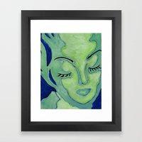 Mug Shot Blue/Lares And … Framed Art Print