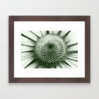 Black And White Flower C… Framed Art Print
