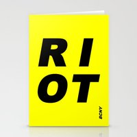 RIOT (BLACK AND YELLOW) Stationery Cards