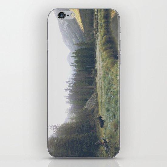 Morning Meadow Moose iPhone & iPod Skin