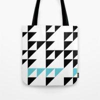 Tri Pixel Tote Bag