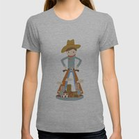 Cowboy in a lonely town Womens Fitted Tee Athletic Grey SMALL