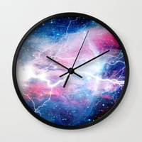 Starred Lightning Wall Clock