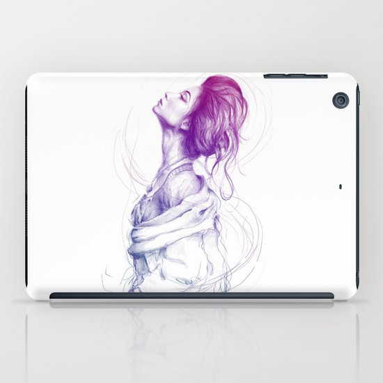 Pretty (Purple) Lady Portrait iPad Case